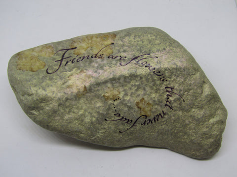 """Friends are Flowers..."" Hand Painted Stone by Alexis Penn Carver"