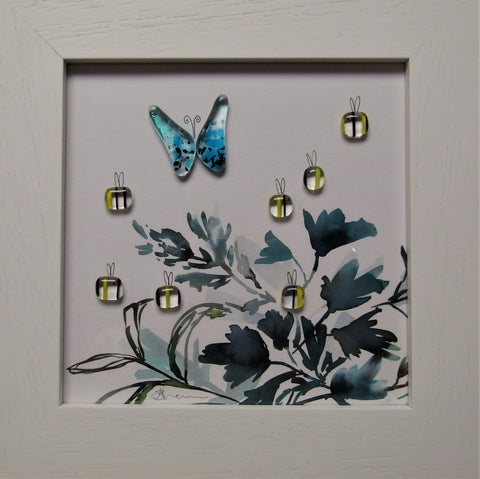 Garden Buzz - Fused Glass and Illustration