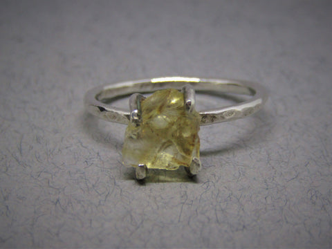 Raw Citrine Rock Ring by Caroline Stokesberry-Lee