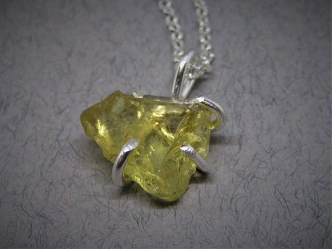 Raw Citrine Rock Pendant by Caroline Stokesberry-Lee