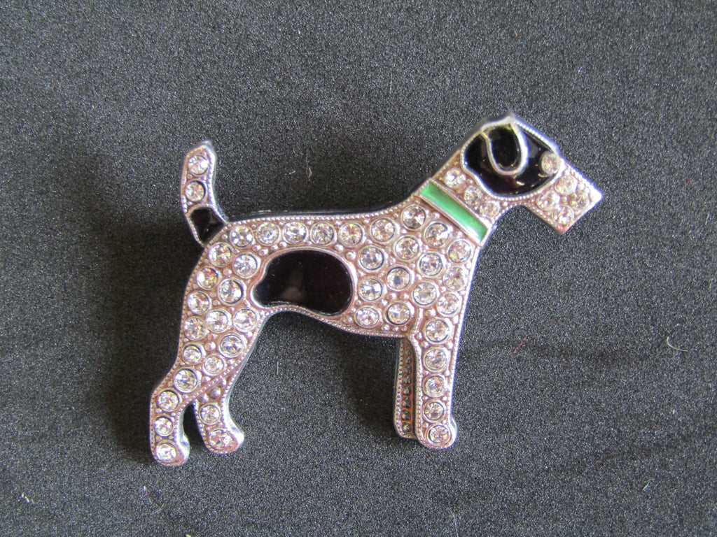 Diamante Dog Brooch, Jess Lelong