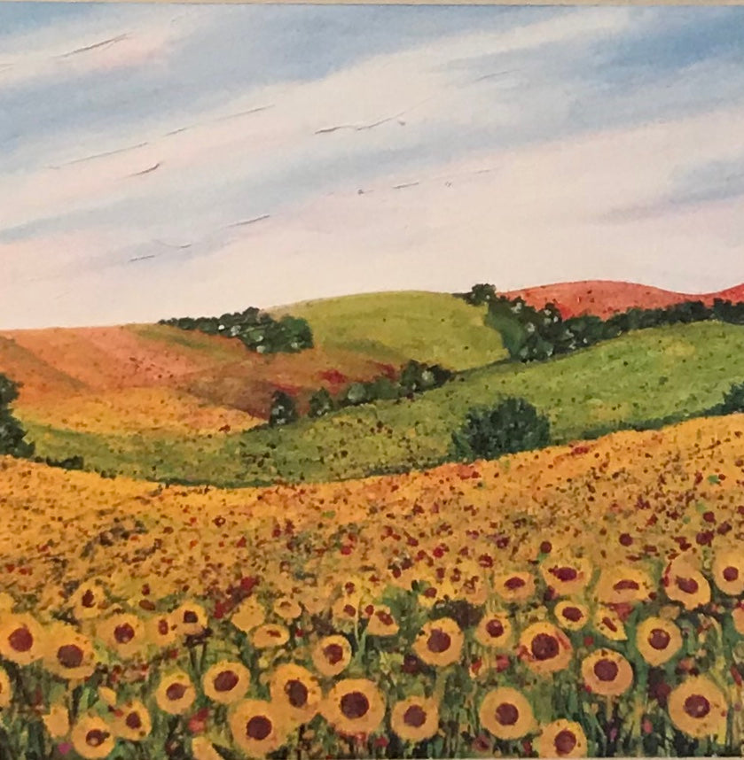 Sunflower Field by Becca Clegg