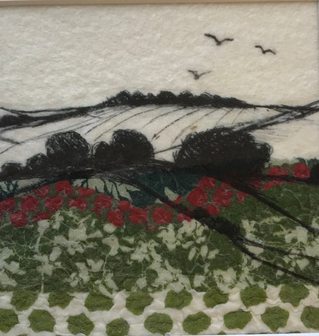 Landscape with Hills & Birds by Lindsey Tyson