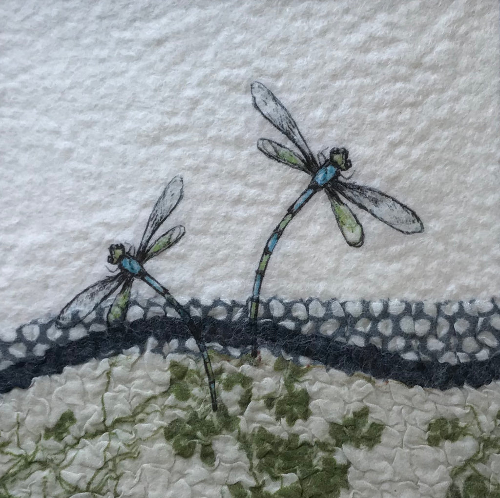 Two Dragonflies in Blue & Green by Lindsey Tyson