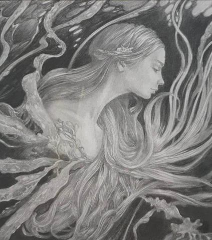 'Study for Nixie' Original Pencil Drawing by Ed Org