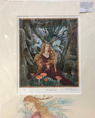 The Wyrd Wood - #1print with original drawing on mount by Ed Org