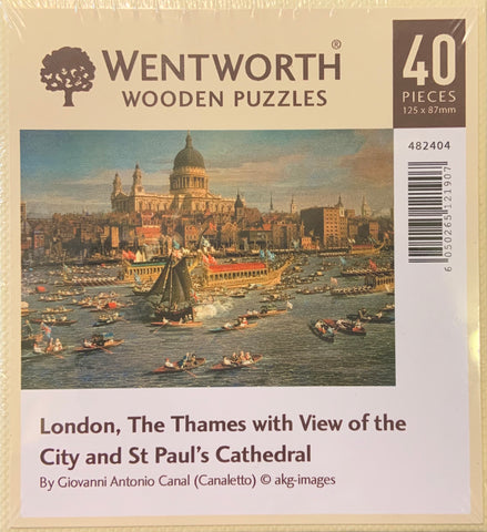 London, The Thames with View of the City and St Paul's Jigsaw