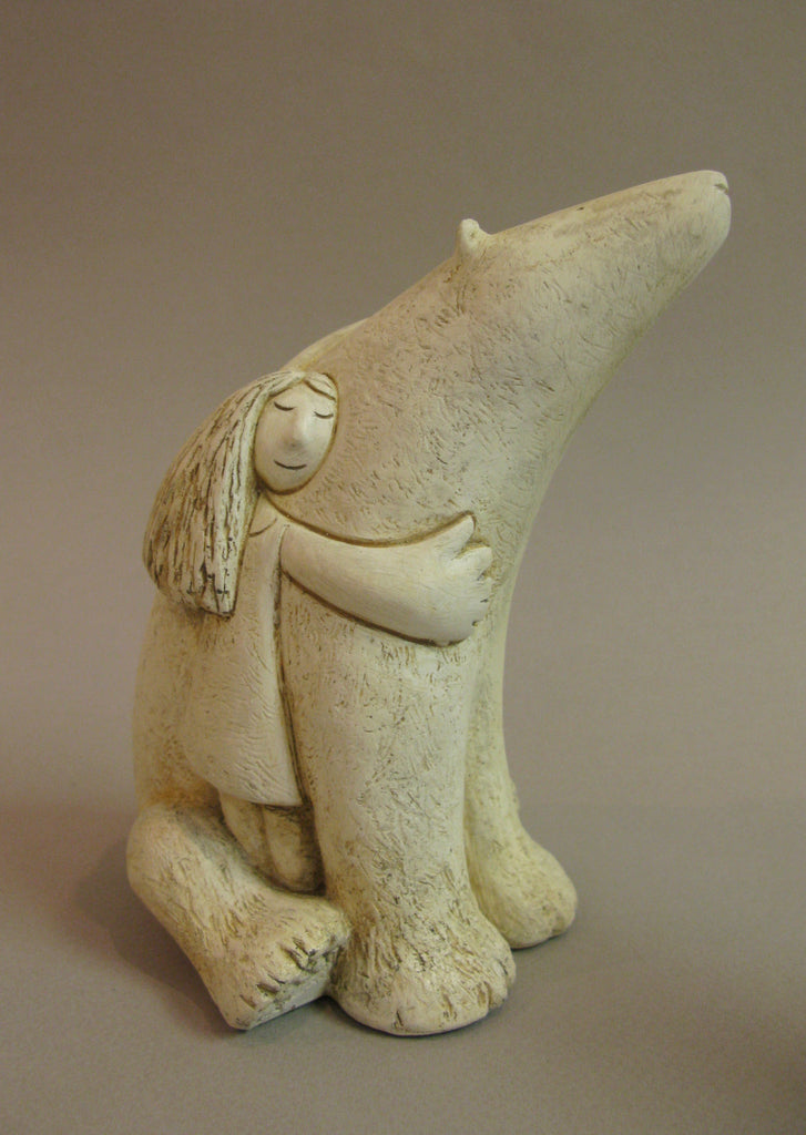 Icebear and Girl, sculpture by Paul Smith