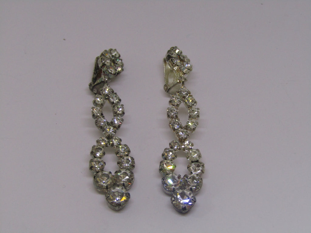 Diamond Dangle Earrings by Jess Lelong