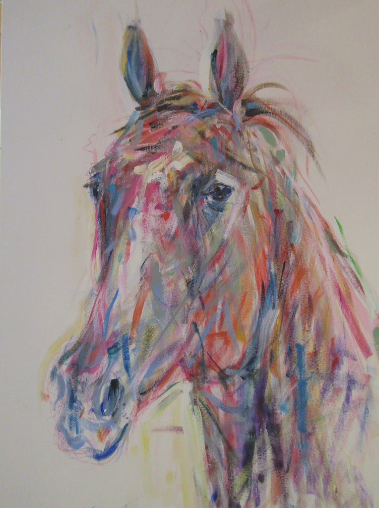 Horse Head II acrylic on canvas by Jacquie Turner