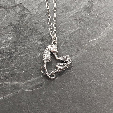 Sterling Silver Seahorse Necklace by Jesa Marshall
