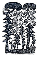 Snow on Fir Trees by Hilke MacIntyre