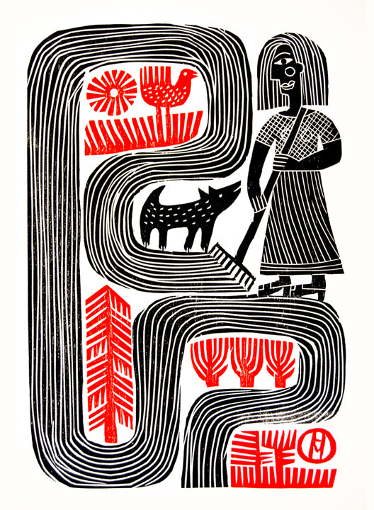 Woman with a Rake by Hilke MacIntyre