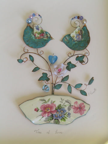 """Tree of Love"" Framed Assemblage"