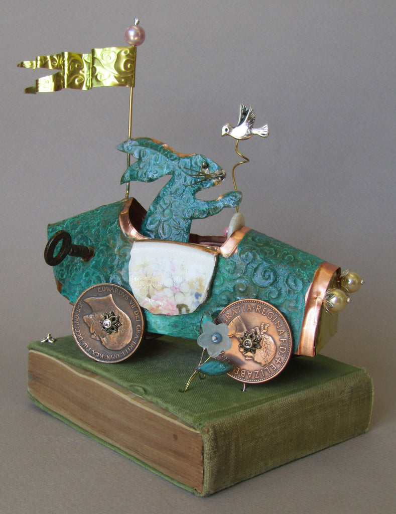"""Haring Around"" Copper Assemblage by Linda Lovatt"
