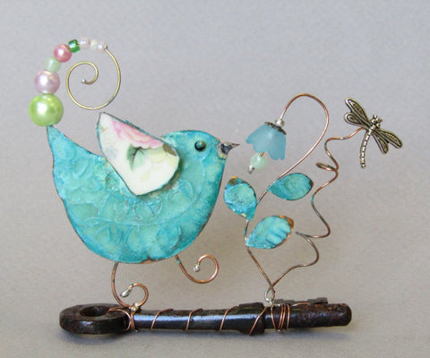 Small Bird on Key Assemblage