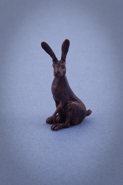 David Meredith Bronze Alert Hare Sculpture