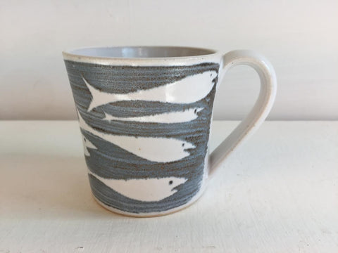 Whitebait Design Small Mug by Neil Tregear