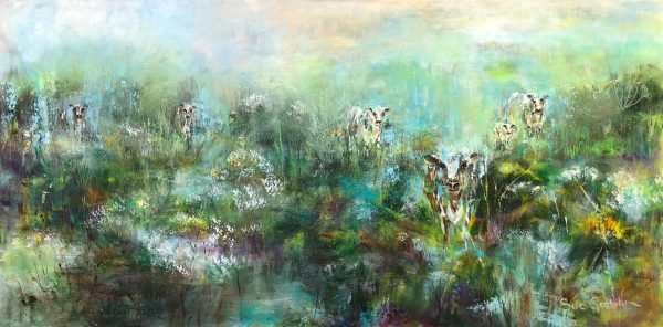 Misty Meadow Morning by Sue Graham