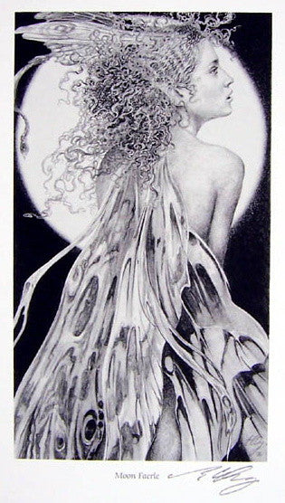 Moon Faerie Signed Reproduction Print by Ed Org