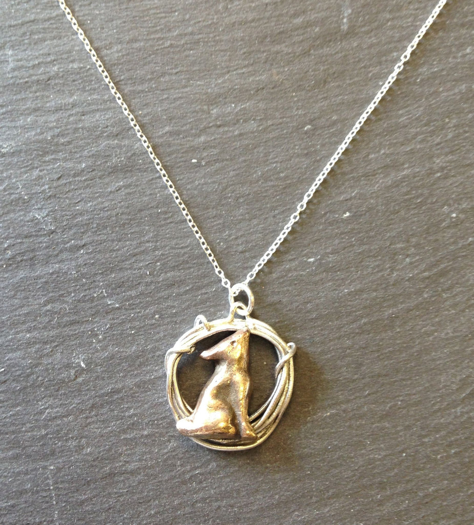 Moongazy Hare in Hoop Necklace