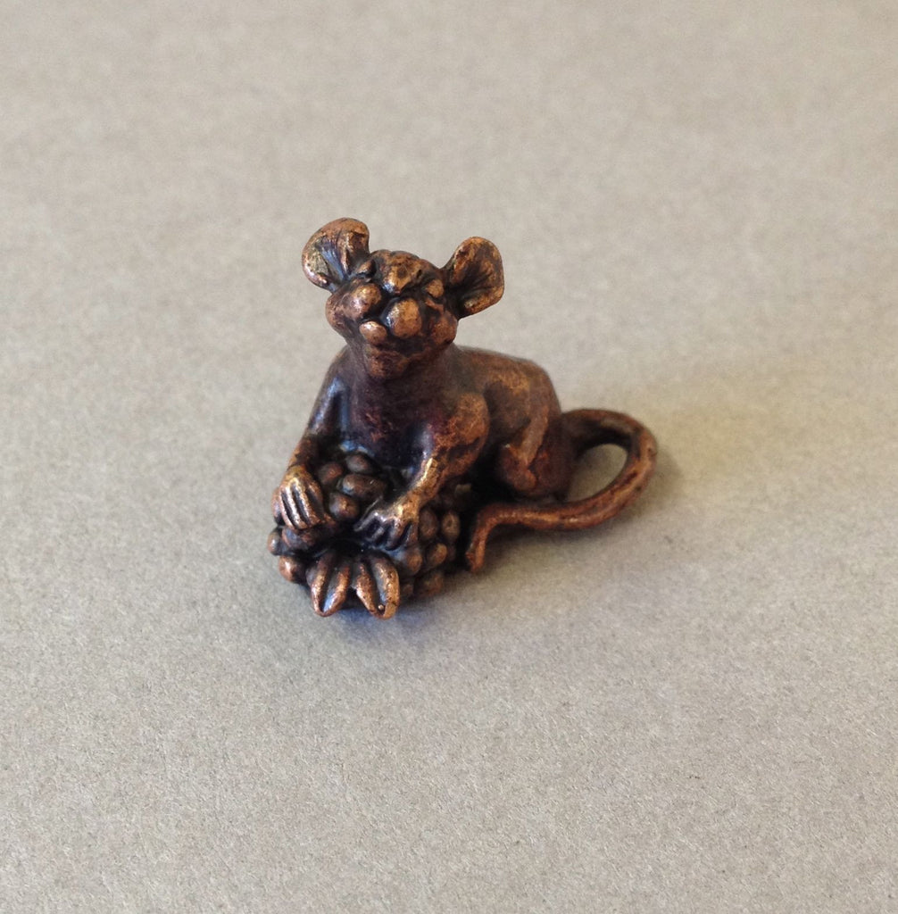Miniature Mouse with Berry by David Meredith