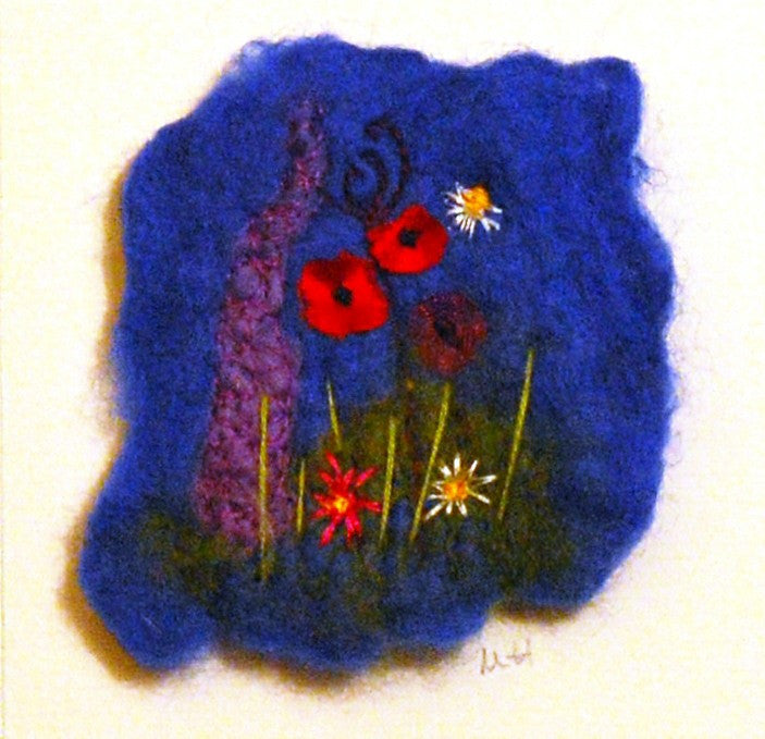 English Country Garden Mini - embelished hand-made felt by Myra Hutton