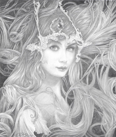 Nereid - Original Pencil Drawing
