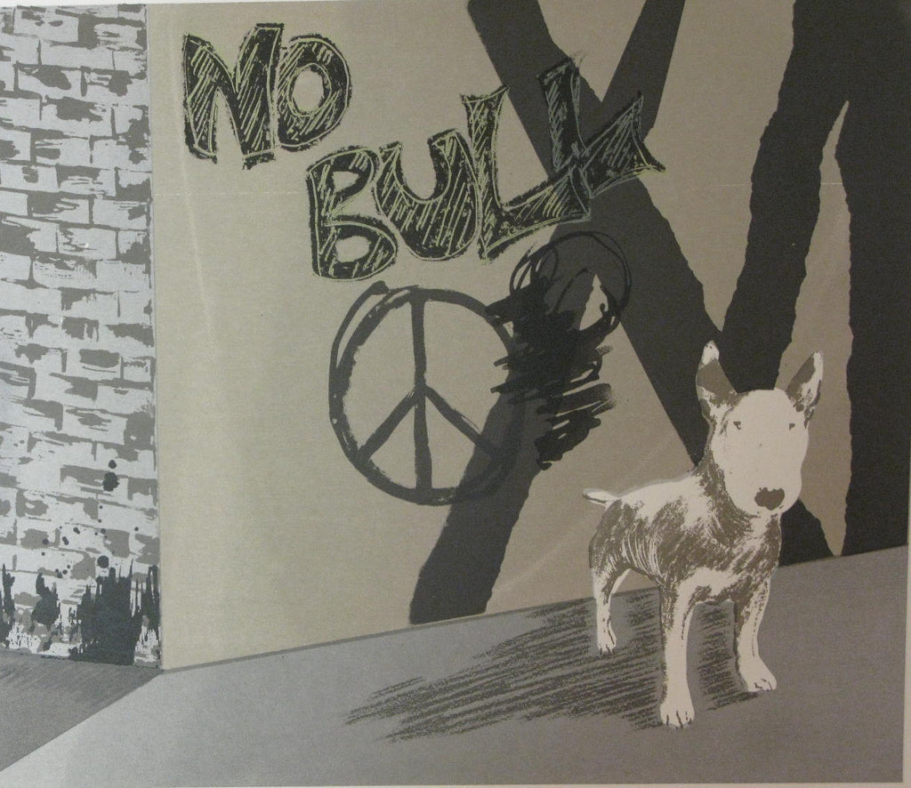 """No Bull"" Linocut by Jane Tonkin"