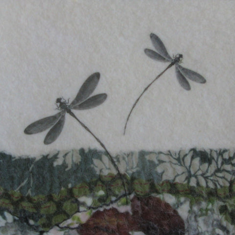 Dragonflies Grey by Lindsey Tyson