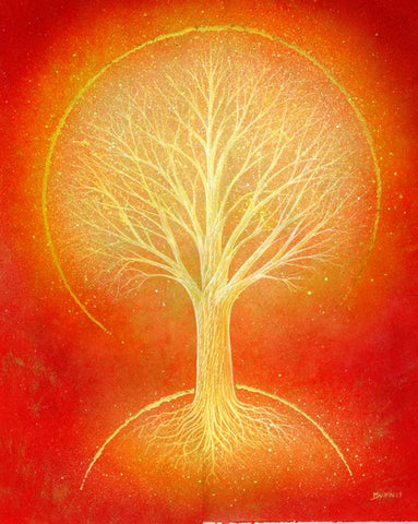 Orange Aura - Original Painting by Mark Duffin
