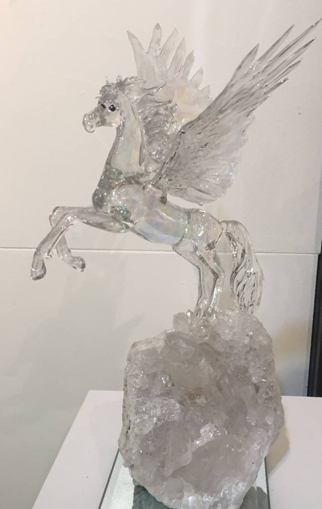 Pegasus - glass sculpture by Sandra Young