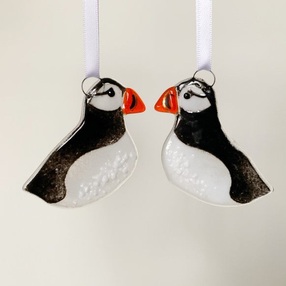 Puffin Glass Decoration by Marc Peters