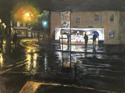 Rainy Friday Night in Thame - Signed Print