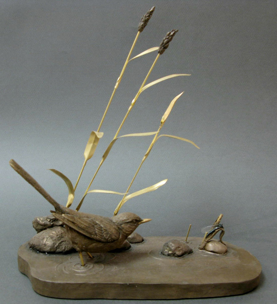River Spectacle - Limited Edition Bronze Resin by Keith Sherwin