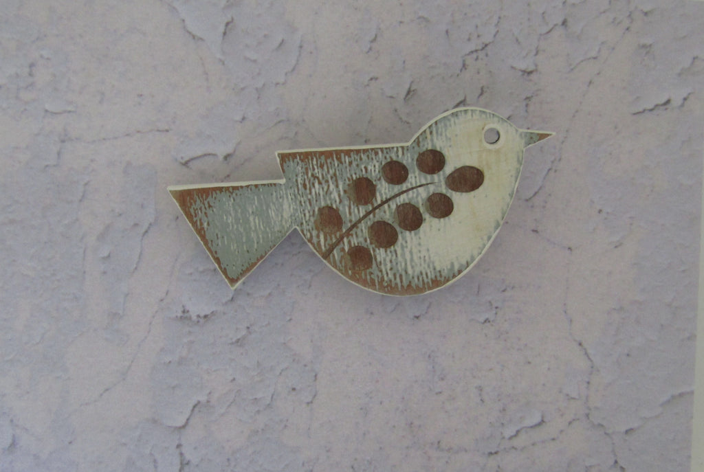 Songbird Brooch - Duck Egg Colouring by Sarah Kelly