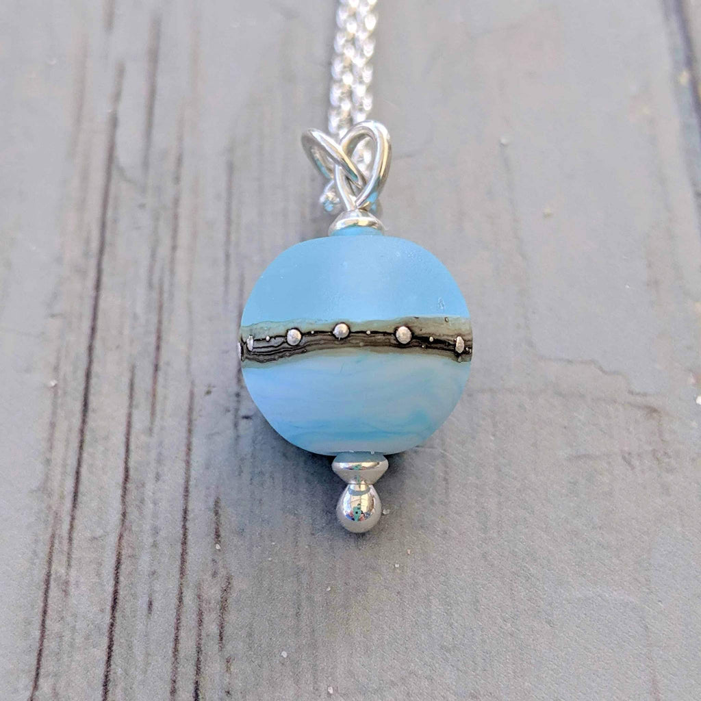 Sea Breeze Beach Babe Ball Pendant by Julie Fountain