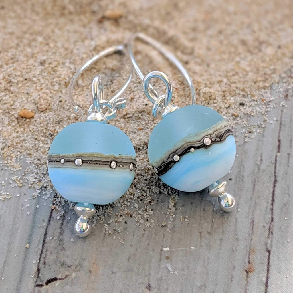 Sea Breeze Ball Drop Earrings by Julie Fountain