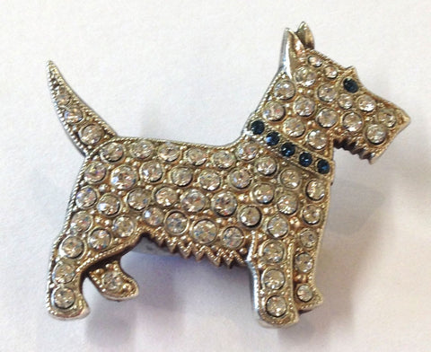 Scottish Terrier Dog Brooch, Jess Lelong