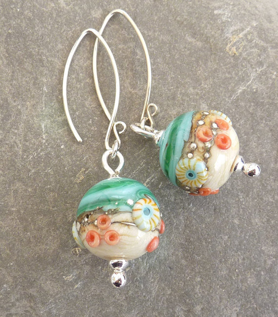 Sea Spray Green Earrings - Julie Fountain