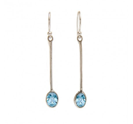 Sequola Earrings with Blue Topaz