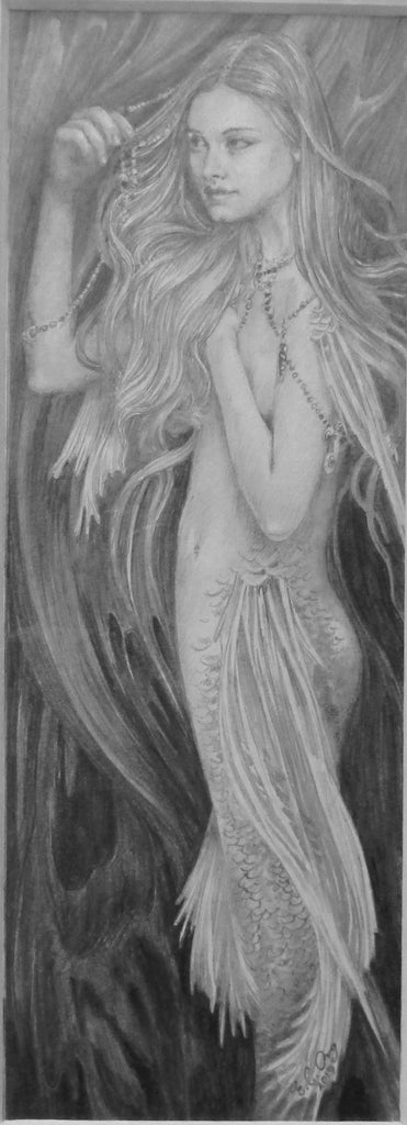 'Siren' Original Pencil Drawing by Ed Org