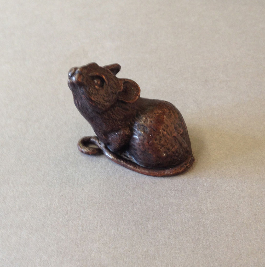 Bronze Sitting Mouse by David Meredith