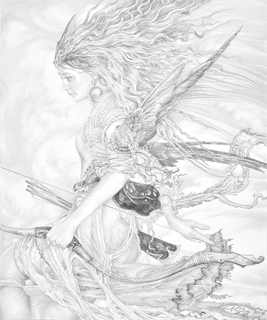 Sky Archer - original drawing by Ed Org