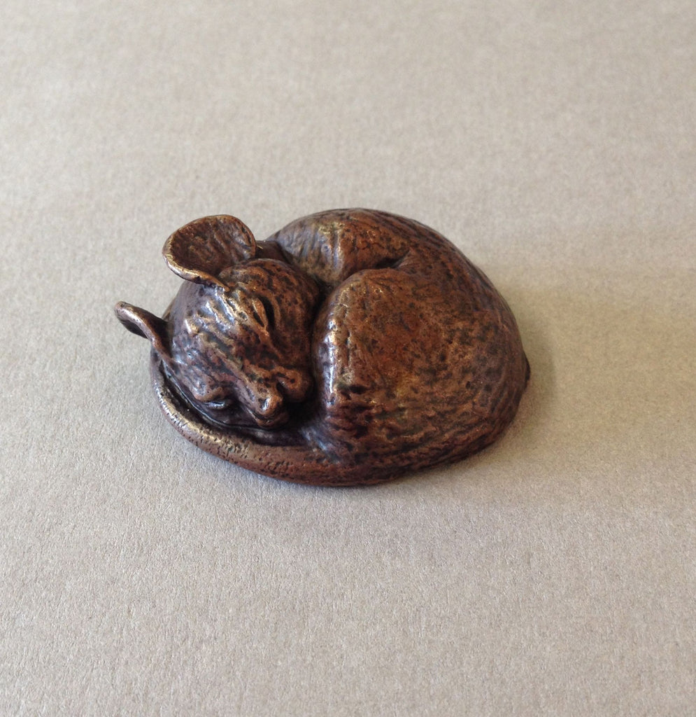 Bronze Sleeping Mouse by David Meredith