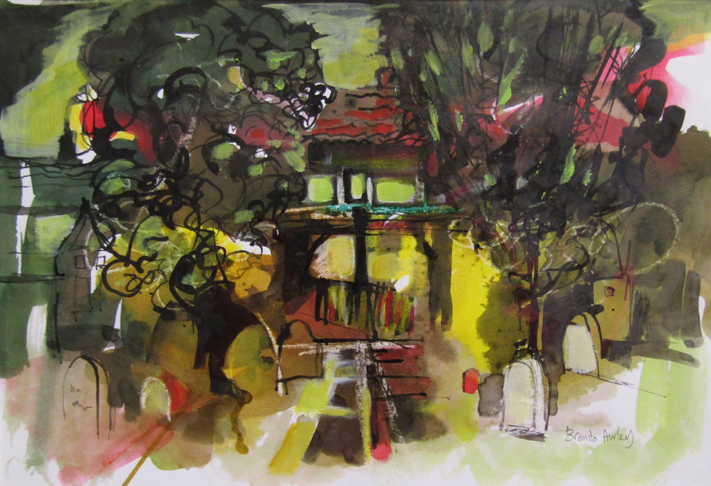 St.Giles Church Yard by Brenda Hurley