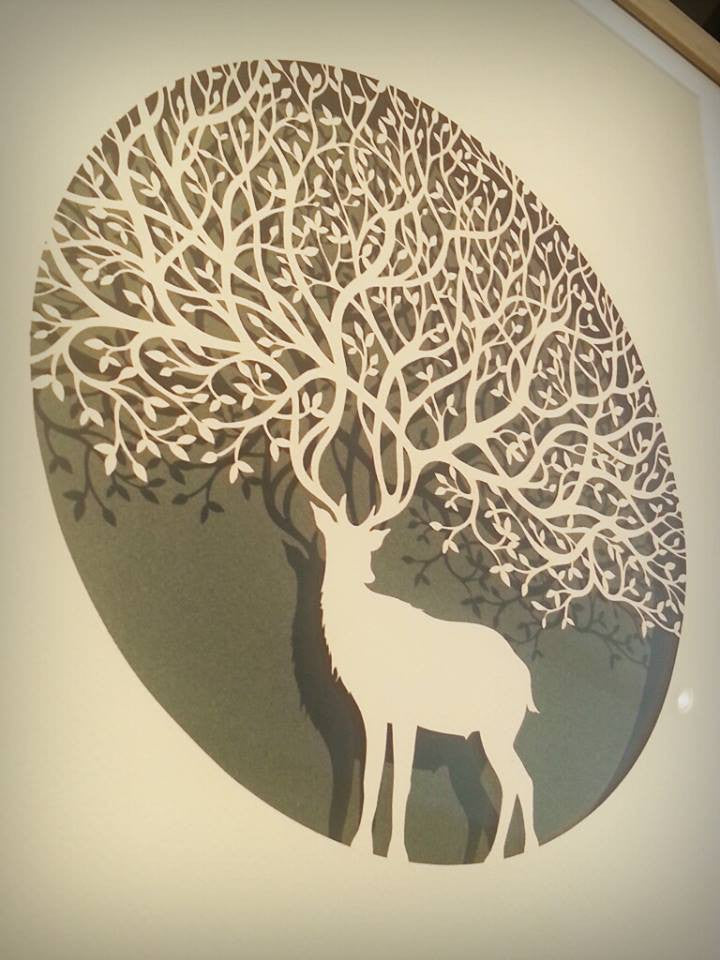 Stag - Laser-Cut by Paper Panda