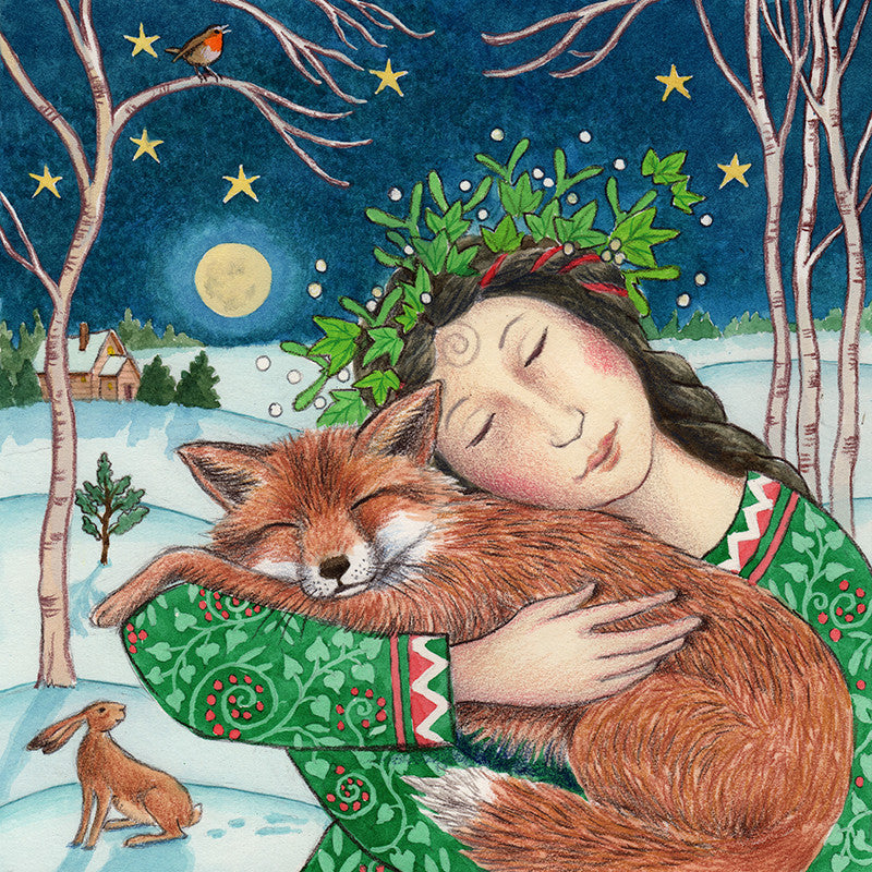 Starry Fox Hug by Wendy Andrew
