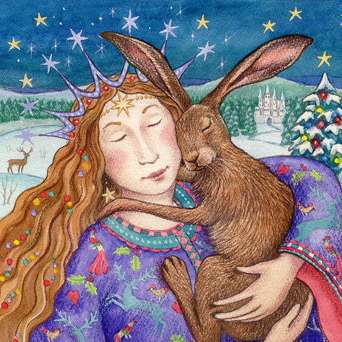 Starry Hare Hug by Wendy Andrew