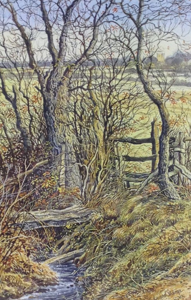 Stile by the Stream by Edward Stamp